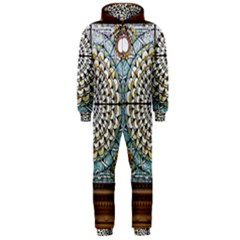 Stained Glass Window Library Of Congress Hooded Jumpsuit (men)