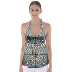 Stained Glass Window Library Of Congress Babydoll Tankini Top
