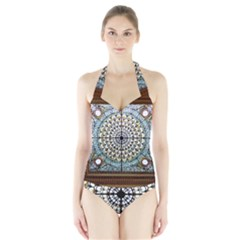 Stained Glass Window Library Of Congress Halter Swimsuit