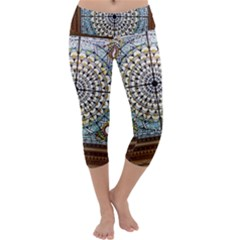 Stained Glass Window Library Of Congress Capri Yoga Leggings