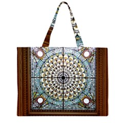 Stained Glass Window Library Of Congress Large Tote Bag