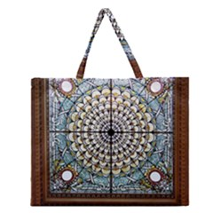 Stained Glass Window Library Of Congress Zipper Large Tote Bag