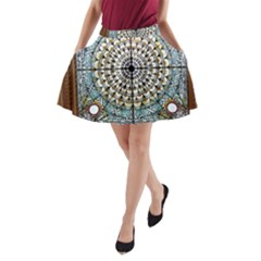 Stained Glass Window Library Of Congress A-Line Pocket Skirt