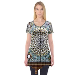 Stained Glass Window Library Of Congress Short Sleeve Tunic