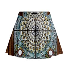 Stained Glass Window Library Of Congress Mini Flare Skirt