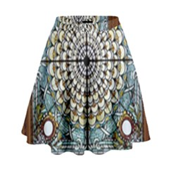 Stained Glass Window Library Of Congress High Waist Skirt