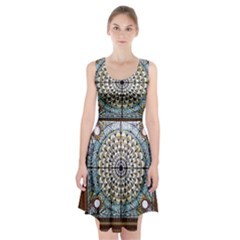 Stained Glass Window Library Of Congress Racerback Midi Dress