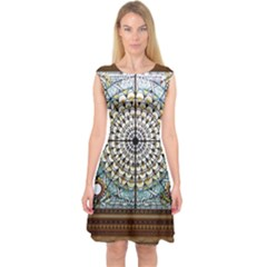 Stained Glass Window Library Of Congress Capsleeve Midi Dress