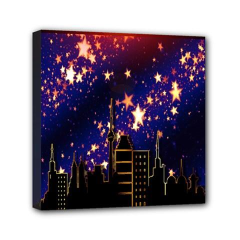 Star Advent Christmas Eve Christmas Mini Canvas 6  X 6