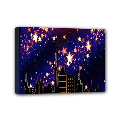 Star Advent Christmas Eve Christmas Mini Canvas 7  x 5