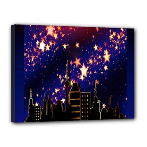 Star Advent Christmas Eve Christmas Canvas 16  x 12