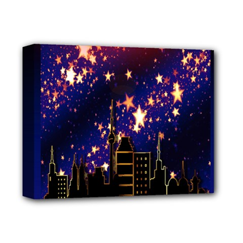 Star Advent Christmas Eve Christmas Deluxe Canvas 14  x 11