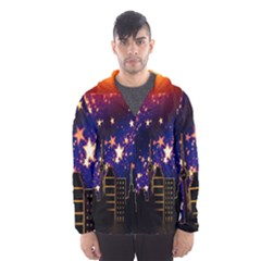 Star Advent Christmas Eve Christmas Hooded Wind Breaker (men)