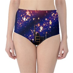 Star Advent Christmas Eve Christmas High-Waist Bikini Bottoms