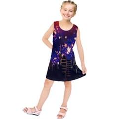 Star Advent Christmas Eve Christmas Kids  Tunic Dress