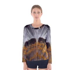 Spring Bird Feather Turkey Feather Women s Long Sleeve Tee