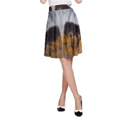 Spring Bird Feather Turkey Feather A-Line Skirt
