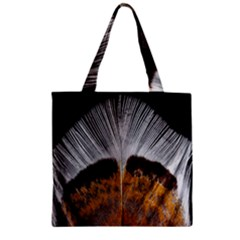 Spring Bird Feather Turkey Feather Zipper Grocery Tote Bag