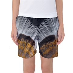 Spring Bird Feather Turkey Feather Women s Basketball Shorts