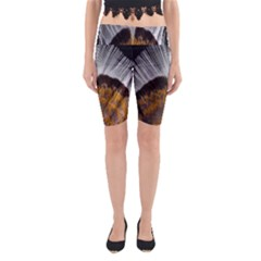 Spring Bird Feather Turkey Feather Yoga Cropped Leggings