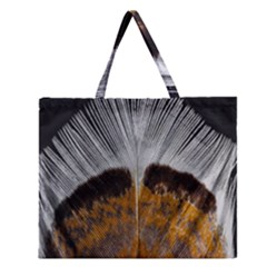 Spring Bird Feather Turkey Feather Zipper Large Tote Bag