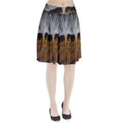 Spring Bird Feather Turkey Feather Pleated Skirt