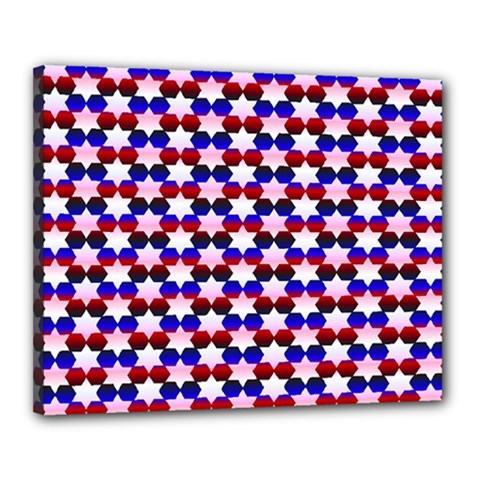 Star Pattern Canvas 20  x 16
