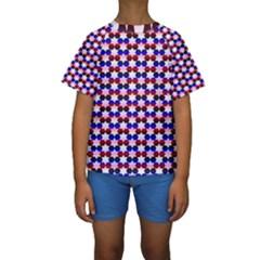Star Pattern Kids  Short Sleeve Swimwear