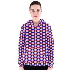 Star Pattern Women s Zipper Hoodie