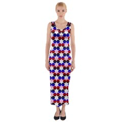 Star Pattern Fitted Maxi Dress