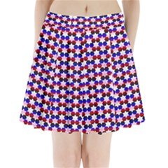 Star Pattern Pleated Mini Skirt