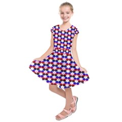 Star Pattern Kids  Short Sleeve Dress
