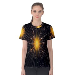 Star Christmas Advent Decoration Women s Cotton Tee
