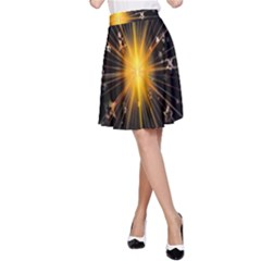 Star Christmas Advent Decoration A Line Skirt
