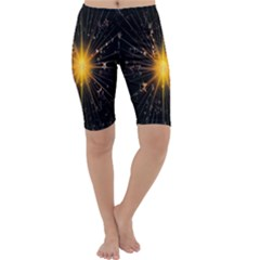 Star Christmas Advent Decoration Cropped Leggings