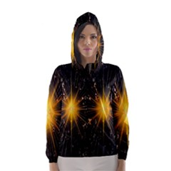 Star Christmas Advent Decoration Hooded Wind Breaker (Women)