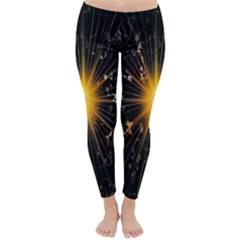 Star Christmas Advent Decoration Classic Winter Leggings