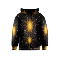 Star Christmas Advent Decoration Kids  Zipper Hoodie