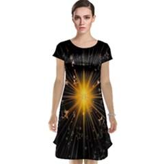 Star Christmas Advent Decoration Cap Sleeve Nightdress