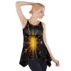 Star Christmas Advent Decoration Side Drop Tank Tunic