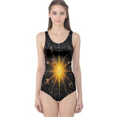 Star Christmas Advent Decoration One Piece Swimsuit