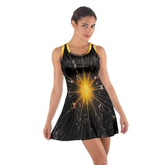 Star Christmas Advent Decoration Cotton Racerback Dress