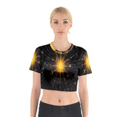 Star Christmas Advent Decoration Cotton Crop Top