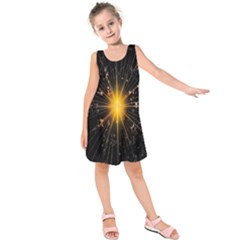 Star Christmas Advent Decoration Kids  Sleeveless Dress
