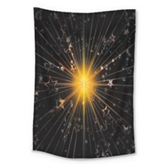 Star Christmas Advent Decoration Large Tapestry