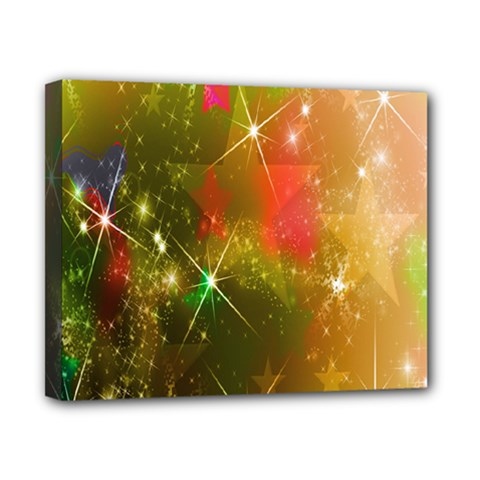 Star Christmas Background Image Red Canvas 10  X 8