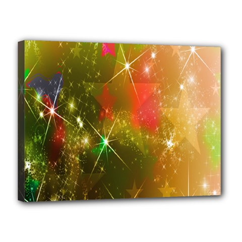 Star Christmas Background Image Red Canvas 16  X 12