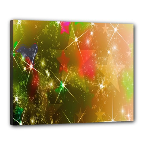 Star Christmas Background Image Red Canvas 20  X 16