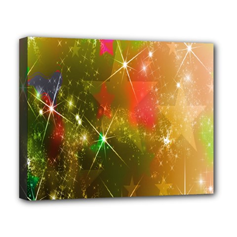 Star Christmas Background Image Red Deluxe Canvas 20  x 16