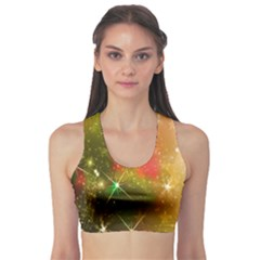 Star Christmas Background Image Red Sports Bra